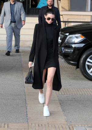 Kendall Jenner - White Sneakers